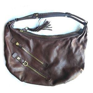 Salvatore Ferragamo Hobo Bag Gancini Brown Leather